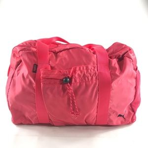Puma Pink Zip Duffle Bag Zip Close Nylon